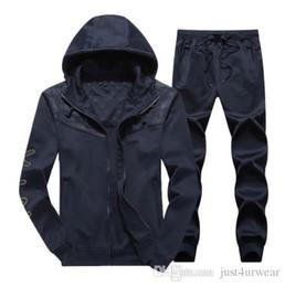 Tute da uomo Cardigan Giacche Felpe con cappuccio Felpe con cappuccio Pantaloni lunghi Casual Active Print NK Suits 2 PCS Abbigliamento uomo da giacche attive fornitori