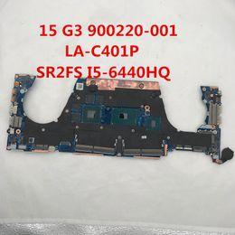 Placa mãe do laptop intel i5 on-line-Para 15 G3 Laptop motherboard 900220-001 LA-C401P Com SR2FS I5-6440HQ Intel x99 DDR3 100% testd completo