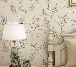 Estilo chino flor pájaro arroz blanco beige luz rosa papel tapiz estudio sala de estar dormitorio sala de bodas TV papel de pared de fondo desde fabricantes