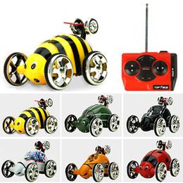 Вращающееся колесо онлайн-Create Toys 27MHz 2CH Mini RC Rolling Rotating Wheel Car Kids' Toys Stunt Car