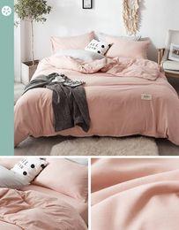 Deutschland Hochwertige Marke L Letter 4-teiliges Bettwäscheset, das hochwertige gewaschene Baumwolle atmet. cheap brands bedding sets Versorgung