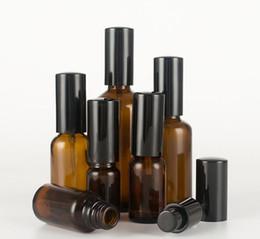 10 мл-100 мл Эфирное масло Флакон для распыления Темно-коричневое стекло Косметическая бутылка Чистая роса Тонер-распылитель от Поставщики темно-коричневая бутылка