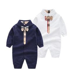 Vestiti del bambino 12 mesi ragazza online-Primavera Baby Boy Girl Pagliaccetto Pigiama 0-12 mesi neonato manica lunga tuta vestiti Moda bambino Tuta da neonato Abbigliamento per bambini