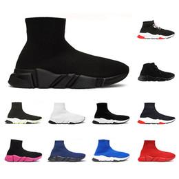 balenciaga 2019 Zapatillas de calcetines Speed Trainer de alta calidad para hombres mujeres Triple negro blanco rojo Zapatos casuales Zapatillas de diseñador de moda botines desde fabricantes