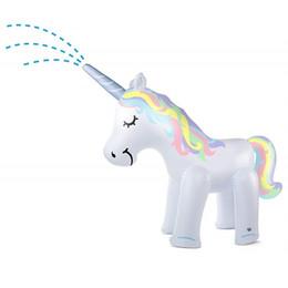 f1 giocattoli Sconti Spray Unicorn Toy Kids Outdoor Giochi di acqua gonfiabile Paddle Summer Swimming Pool Pool Spray pioggia Bardian 93 1fy f1