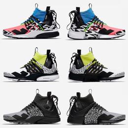 2019 nuevos zapatos corrientes frescos A estrenar ACRONYM Presto Mid V2 Zapatos de diseño de camuflaje Graffiti Hombres Mujeres Zapatillas Racer Pink Cool Grey Dardos zapatillas Tamaño 36-45 nuevos zapatos corrientes frescos baratos