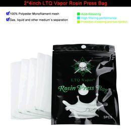 2019 borse di colofonia 2 * 4 pollici LTQ Vapor Rosin Filter Press Bag 100% poliestere monofilamento maglia micron 36 72 90 120 fit accessorio Rosin DHL