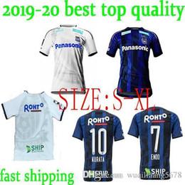 31b85ced158 League Gamba Osaka Soccer Jerseys 2019  10 KURATA Gamba Osaka Home blue  Soccer Shirt 2019 away white  7 ENDO Football Uniform