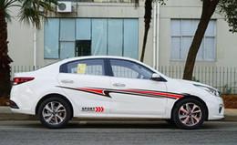 autoadesivi grafici sportivi auto Sconti Parti accessori veicoli Diy 2Pcs flusso-Line Sport Car corpo vinile grafico Stripe Decal Sticker universale