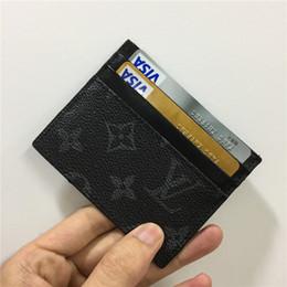 2019 billige passbörsen Designer-Kartenhalter Brieftasche Mens Womens Luxus-Kartenhalter Handtaschen Leder-Kartenhalter schwarze Geldbörsen kleine Brieftaschen Designer Geldbörse 03974