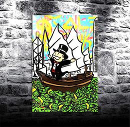 baciare dipinti ad olio Sconti Alex Monopoly -9,1 pezzi stampe su tela Wall Art olio su tela Home Decor (senza cornice / con cornice) 8X12:
