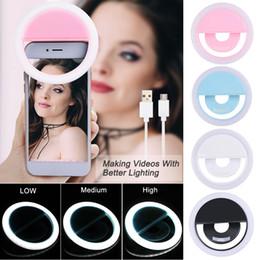 2019 nuova fotografia leggera Nuova carica USB Selfie Flash portatile a led Fotocamera Telefono Anello Luce Miglioramento della fotografia Notte per iPhone Smartphone