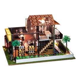 Bricolage Mode Café-Restaurant Avec Meubles Enfants Adulte Miniature En Bois Poupée Maison Modèle Kits De Construction Dollhouse Jouets ? partir de fabricateur