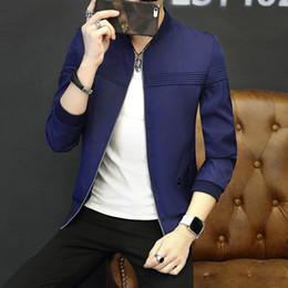 Canada 2019 nouvelle marque de haute qualité de l'homme Jacket Fashion Slim adolescents Black Grey Blue Jacket Plus Size M-4XL Vente Chaude de Noël supplier grey man jacket Offre