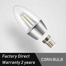 Fabbrica di candele online-Fabbrica di candele diretto Led Bulb E14 Nessuna luce intermittente AC85-265V 5W 7W 2835smd ha condotto la luce orrente costante lampade a LED Luce lampadario Lampadine