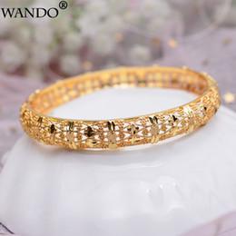 oro etioco Sconti WANDO 1 pz / lotto folk-custom gioielli etiopi braccialetti color oro Dubai braccialetti d'oro per i braccialetti africani