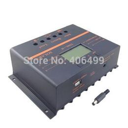 2019 carregador solar banco laptop Freeshipping 80A Regulador de Carga Do Controlador Solar 12 V 24 V Auto Interruptor do Painel Solar Controlador de Carga Da Bateria