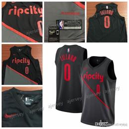 Basquete estilo livre estilo jersey on-line-Homens Basketball Jersey Damian Lillard 2018-19 Cidade tamanho estilo s-2xl frete grátis