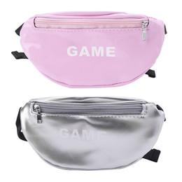 Смешные пакеты онлайн-Laser Waist Bags for Children Baby Girl Letter Funny Pack Mini Kids Girl Shoulder Bags Women Money Waist Packs Belt Bag