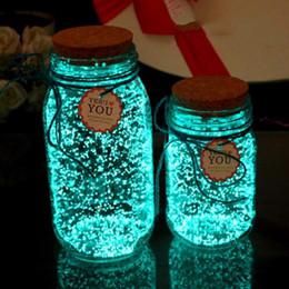 2019 niños de pintura de arena Resplandor en la oscuridad 10g fiesta luminosa diy brillante noctilucent arena pintura estrella botella de deseos partículas fluorescentes regalo del niño rebajas niños de pintura de arena