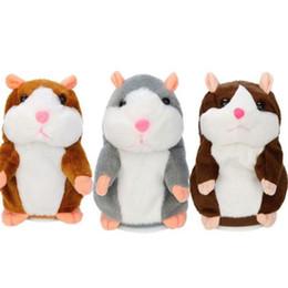 Canada Parler Hamster Électronique En Peluche Jouet Souris Pet Sonore Enfants Répète Mots 15cm Parler Parler Son Record Hamster En Peluche jouet K0493 Offre