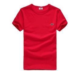 Wholesale Camisa polo de los hombres franceses solapa de algodón puro de la perla de la tierra delgado golf camiseta de manga corta ropa de hombre ropa de trabajo de la pareja