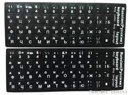 2019 russische englische tastatur schwarz Tastatur Aufkleber Laptop 2 Teile / los Arabisch Englisch Farsi Türkisch Russisch Französisch Italienisch Thai Desktop S Schutz Aufkleber Schwarz günstig russische englische tastatur schwarz