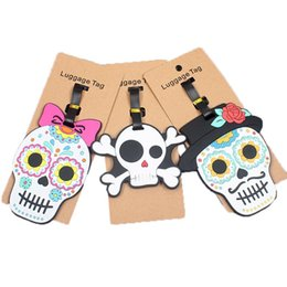 Halloween Ghost Horrible Skull Luggage Tag Label Travel Bag Label With Privacy Cover Luggage Tag Leather Personalized Suitcase Tag Travel Accessories
