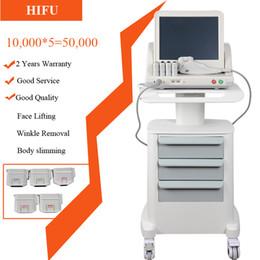máquinas elevadoras de face Desconto A alta intensidade médica da categoria HIFU focalizou a remoção do enrugamento da máquina da face lift de Hifu do ultra-som com 5 cabeças para a cara e o corpo