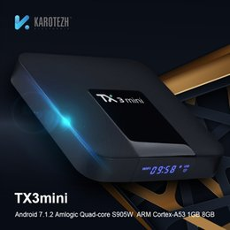 TX3 MINI ТВ Box Android 7.1.2 Amlogic Quad Core S905W DDRR 2G 16G EMMC Умные ТВ-боксы HDMI 2.0 4K 2K Stream Media Player 3D Интернет Wi-Fi от Поставщики 3d интернет тв окно