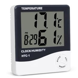 Canada Numérique LCD Température Hygromètre Horloge Humidité Compteur Thermomètre avec Horloge Calendrier Alarme HTC Intérieur Intérieur Extérieur Utilisation DHL Gratuit supplier temperature humidity meter alarm clock hygrometer Offre