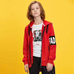 2019 hoodies adolescentes de la moda Teenage Children Boy's 2019 Hip Hop Fashion Full Zipper Hoodies Kids Boy Rock Cardigan Hoodie Sudaderas Abrigos rebajas hoodies adolescentes de la moda