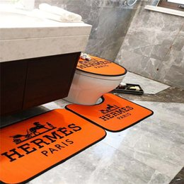 2019 capa de polpa Luxo Moda WC Pé tampa do vaso Seat Cover Não-slip Carta Imprimir cavalo Padrão de alta qualidade casa de banho Set frete grátis