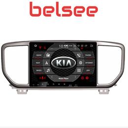 """Unidade de navegação na tela de toque on-line-Belsee 9 """"IPS Touch Screen DSP Android 9.0 Car Radio DVD Player Multimídia para KIA sportage 2018 2019 Unidade Principal Navegação GPS carro dvd"""