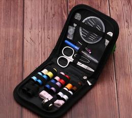 Zuhause nähen kits online-Tragbare Reise Nähkästchen Stricknadeln Werkzeuge Quilten Faden Nähen Stickerei Handwerk Nähen Kits Home Organizer