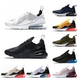 os lumière Promotion Nike air max 270 Nouveau Mens Femmes Chaussures De Course Triple Blanc Noir Lumière Os Os BARELY Rose TFY Vibes Tigre Femmes Sports Sneakers Chaussures Taille 36-45