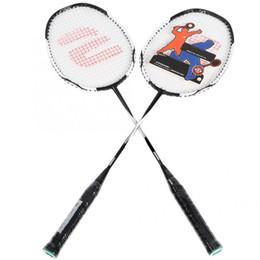 2019 raquetes de badminton de bola Liga de Liga de Alumínio de Carbono leve Raquete De Badminton Raquete De Badminton Raquete De Treinamento de Fitness Bola de Carbono Raquete De Carbono raquetes de badminton de bola barato