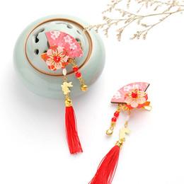 2019 pares de trajes 1 Par Chinês Tradicional Traje de Casamento Acessórios Para o Cabelo Meninas Hairclip Tradicional Estilo Flor Borlas Handmade Pinos de Cabelo pares de trajes barato