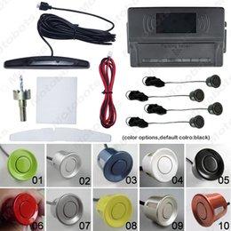 Aiuta parcheggio online-LED Car Nuovo 4 sensori di parcheggio dell'esposizione di inverso del sensore radar di sostegno Aid System SKU: # 2653