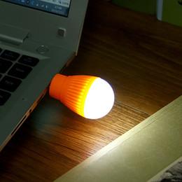 Im freien runde glühbirnen online-Mini Leselicht USB LED Lampe Nachtlicht Runde Outdoor Taschenlampe Notfall Lampe Laptop Computer Energiesparende Camping lampe