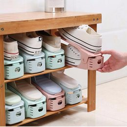 2019 espelhos de exibição grossistas Durável Sapatos Ajustáveis Rack de Armazenamento de Sapatos de Suporte Armário de Armazenamento de Espaço-salvar o Gabinete Do Armário Stand Shoe Organizador Shoe Shoe Racks De Papelão
