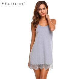 6548f0fc078 Ekouaer Sexy Nightgown Lingerie Sleepwear Babydoll Nightdress Women Lace  Night Dress Full Slips Chemise Sleepshirts Nightwear