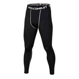 Homens, usando, leggings on-line-2017 Homens Compressão Calças Esportivas Calças Justas Dry Fit Camada de Base de Fitness MMA Desgaste Musculação Leggings Skinny