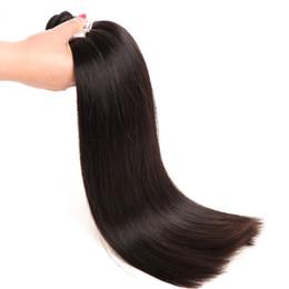 reine amour vierge cheveux Promotion 100% de cheveux humains 10-30 pouces de long cheveux raides malaisiens péruviens cheveux tisser bundle couleur naturelle 1B