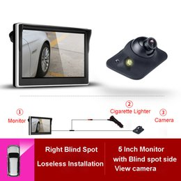 front backup camera Promo Codes - 5 Inch TFT LCD Car Blind right,front, rear Camera Monitor Waterproof LED Night Vision Reversing Backup 2 in 1 parking assistant