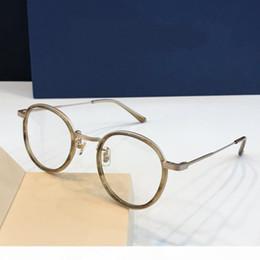 i telai di vetro all'ingrosso di moda Sconti occhiali da vista montatura da vista GM03 rimless logo animale cornice d'oro leopardo ottico per gli uomini progettare vetro trasparente ultraleggero france progettista