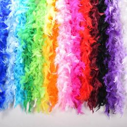 Cor de pluma on-line-Roupa 2M Multi Color Fluffy Artesanato Ostrich Feather Plume Boas lenço para Wedding Desempenho Decoração Dia dos Namorados Dança