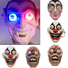 Volle led-maske online-Led licht halloween horror maske für clown vampire eye maske cosplay kostüm thema make-up leistung maskerade vollgesichts partei maske hh9-2407