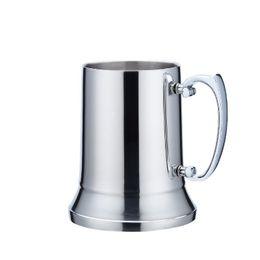2019 copos prateados Prático Prata Suave Xícaras de Chá de Aço Inoxidável Parede Dupla Paredes de Cerveja Anti Skid Bottom Tumbler Nova Chegada 33cq2 BB desconto copos prateados