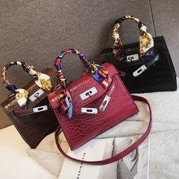 Луис вуиттон онлайн-2019 Crossbody Bags For Women Leather  Handbag Famous Designer  Bolsa Feminina Crocodile Shoulder Bag Ladies Sac Main